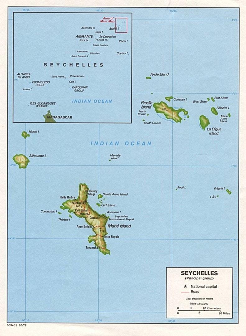 Mapa Seszeli