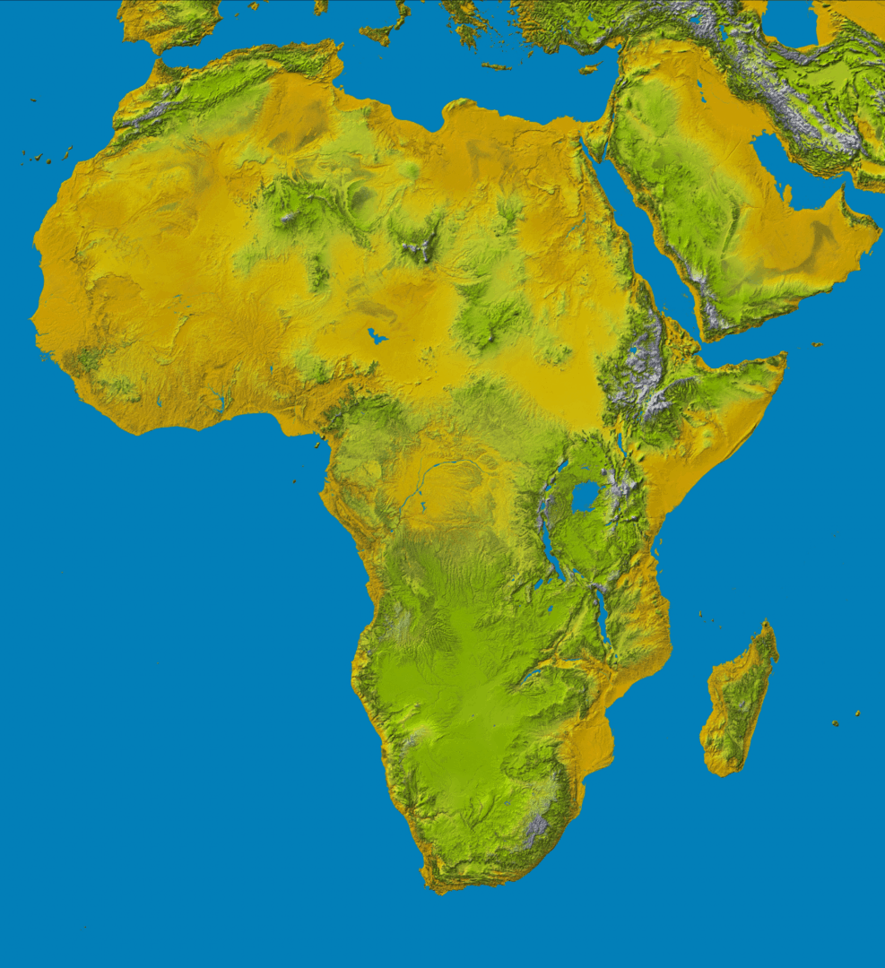 Mapa topograficzna Afryki