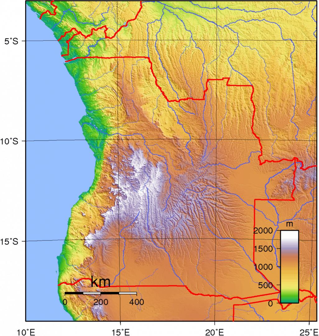 Mapa topograficzna Angoli