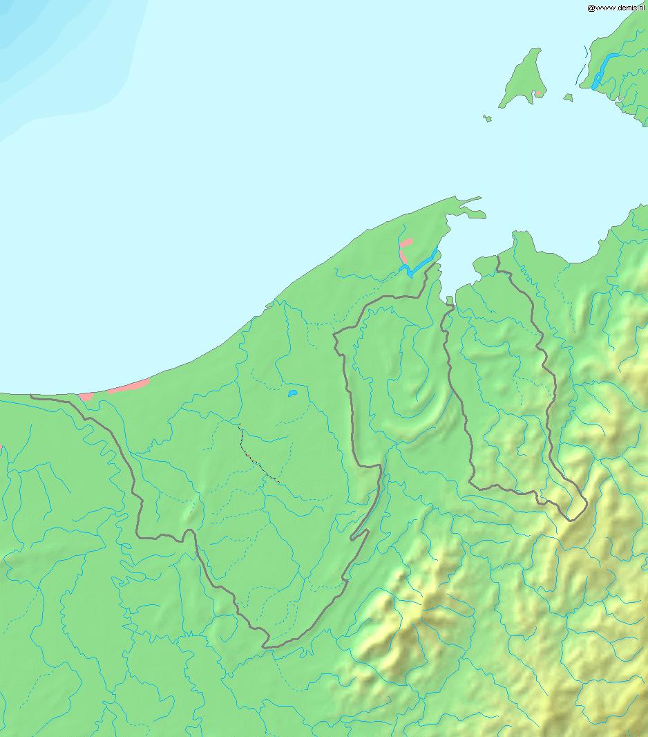 Mapa topograficzna Brunei