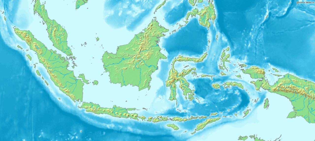 Mapa topograficzna Indonezji