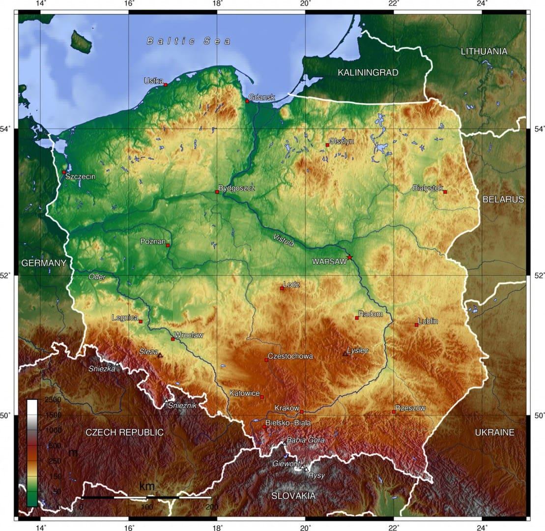 Polska Mapa Mapy Polski Travelin