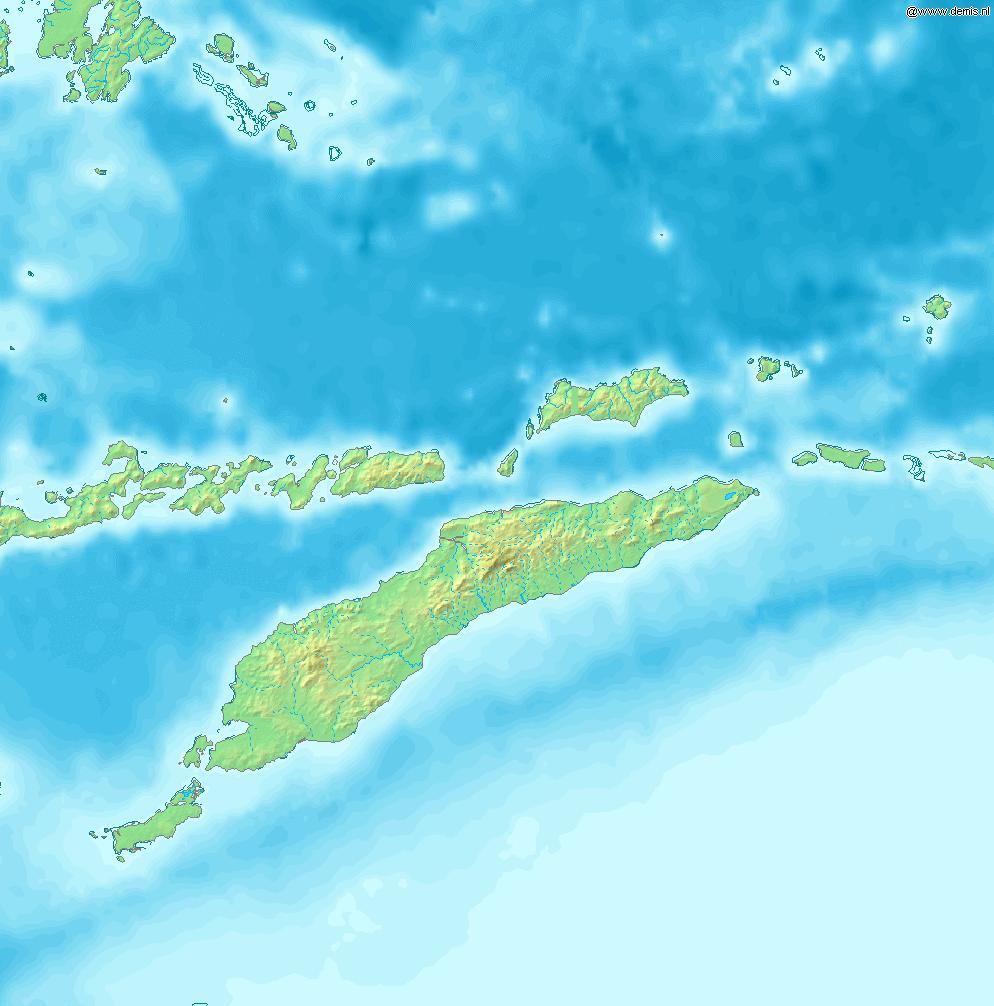 Mapa topograficzna Timoru Wschodniego