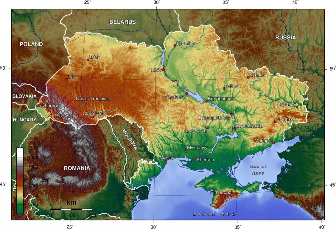 Ukraina Mapa Mapy Ukrainy Travelin