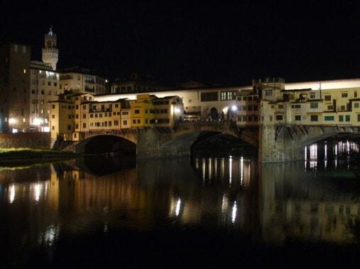 Most Złotników nocą
