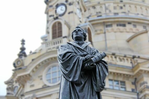 Niemcy, Drezno. Pomnik Marcina Lutra