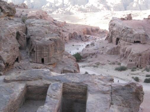 Skalne miasto Petra w Jordanii