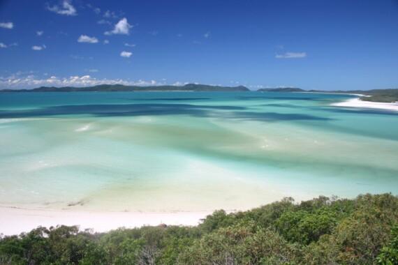 Plaża Whitehaven w stanie Queensland
