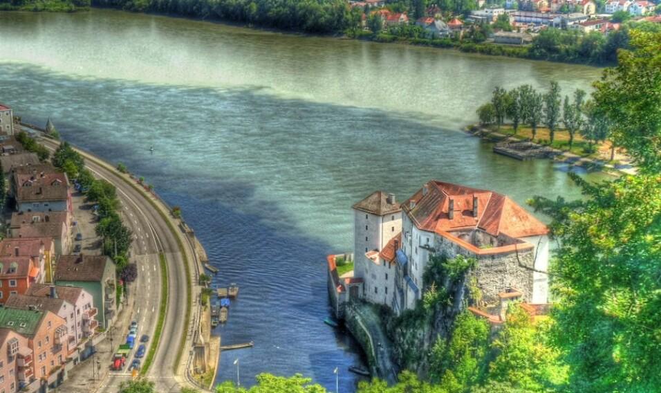 Dunaj, Inn oraz Ilz, Niemcy
