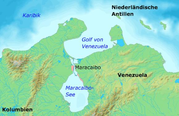 Położenie Jeziora Maracaibo