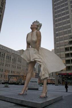 Pomnik Marilyn Monroe w Chicago