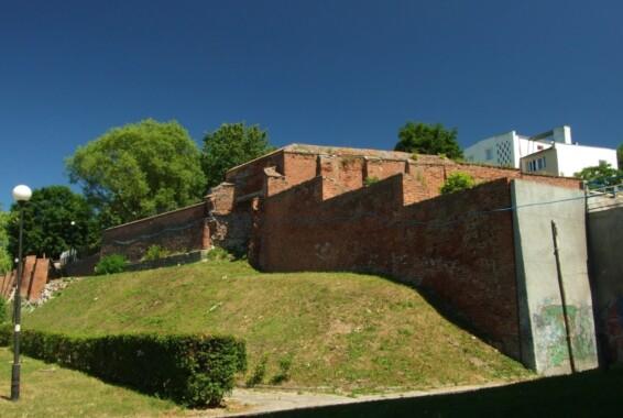 Resztki murów obronnych Malborka