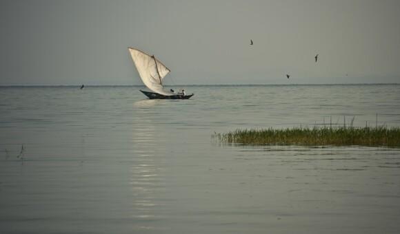 Rybacy na Jeziorze Wiktorii