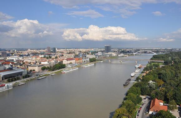 Rzeka Dunaj w Bratysławie