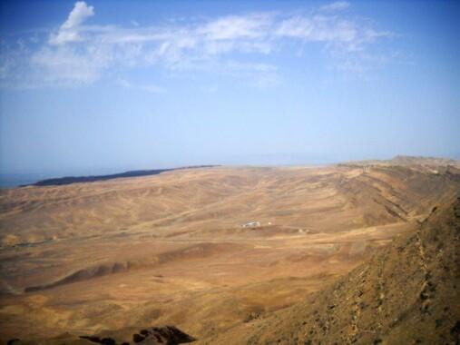 Widok na Azerbejdżan z okolic Dawid Garedża