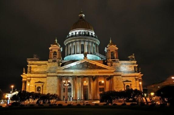 Sobór św. Izaaka nocą