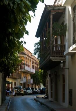 Uliczka starej Cartageny (Kolumbia)