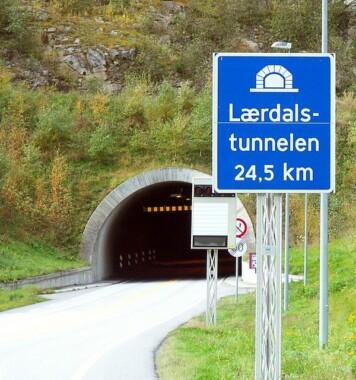 Wjazd do tunelu Laerdal