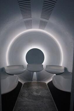 Wnętrze kapsuły Gateway Arch