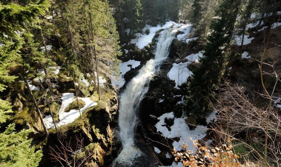 Wodospad Kamieńczyka w Sudetach