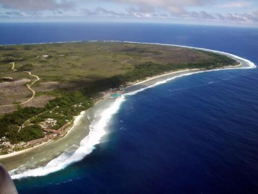 Wschodnia część wyspy Nauru
