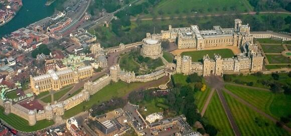 Widok z powietrza na Zamek Windsor